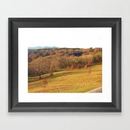 Biltmore Estate Landscape Asheville, NC Fall Framed Art Print