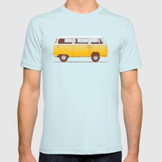 Yellow Van MEDIUM Light Blue Mens Fitted Tee