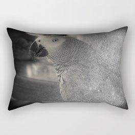 African Grey Parrot:  Ben's Portrait Rectangular Pillow