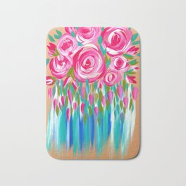 Chic Roses Bath Mat