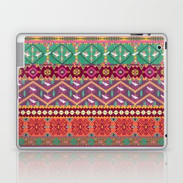 Seamless colorful aztec pattern with birds Laptop & iPad Skin