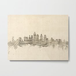 Philadelphia Pennsylvania Skyline Sheet Music Cityscape Metal Print