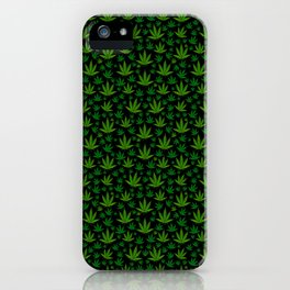 Tiled Weed Pattern iPhone Case