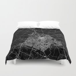 Lexington map Kentucky Duvet Cover