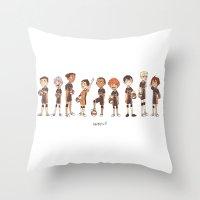 haikyuu Throw Pillows featuring haikyuu!! by c.j.