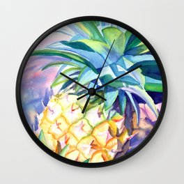 Kauai Pineapple 3 Wall Clock