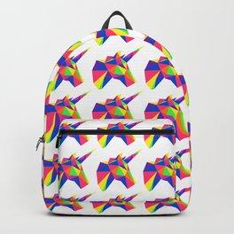 Rainbow Unicorn Geometric Design Backpack