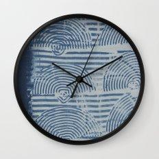 Indgo Paste Print Wall Clock