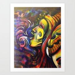 Reflections close-up Art Print