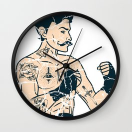 MMA Tattoo Fight Force Hobby Boxing Beard Gift Wall Clock