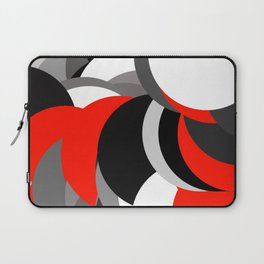 black white grey red geometric digital art Laptop Sleeve