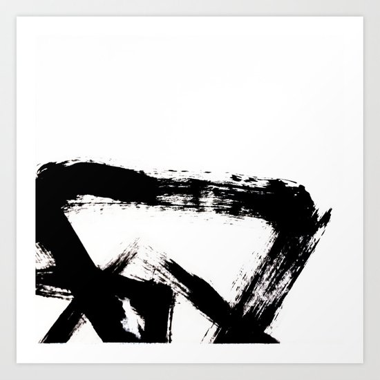 Brushstroke [8] - a simple, abstract, black and white india ink piece by blushingbrushstudio