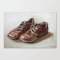 shoes Canvas Prints featuring Shoes by Tapio Mömmö