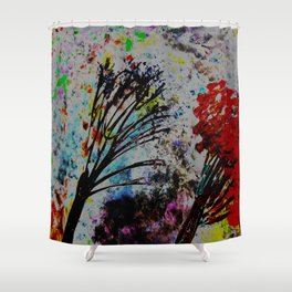 Twin Trees Shower Curtain