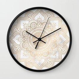 Marble Gold Mandala Design Wall Clock