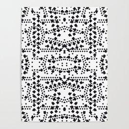 black square elements Poster