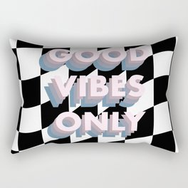 Good Vibes Only Checkerboard Rectangular Pillow