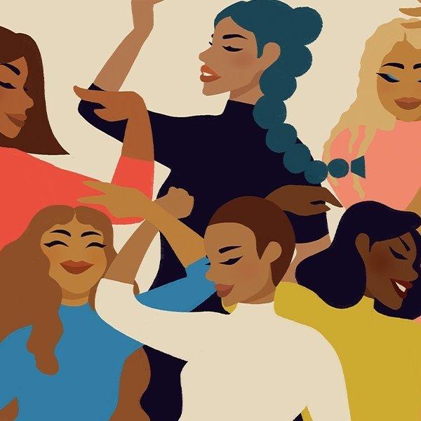 illustration of women dancing