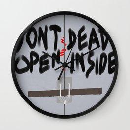 Don't Open Dead Inside, Walking Dead  Wall Clock
