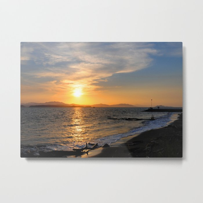 Sunset at Puntarenas Metal Print