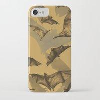 bats iPhone & iPod Cases featuring Bats by Deborah Panesar Illustration