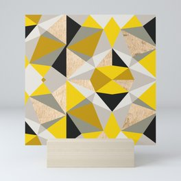 Nordic Color Block Throw Pillow Mix and Match Indoor Outdoor Cushion Cover Modern Bedding Black Yellow Slate Grey White Triangles Hexagon Mini Art Print