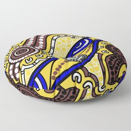 Authentic Aboriginal Art - Welcome to Country Floor Pillow
