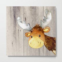 Woodland Friends - Little Deer In Forest Metal Print