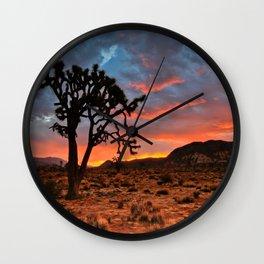 Joshua Tree Sunrise Wall Clock
