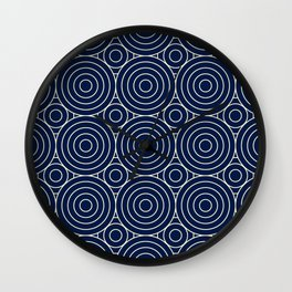 Mediterranean Circles Seamless Pattern Wall Clock
