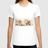 puppies T-shirts featuring Puppies Labrador Retriever by BALEARIC MEDIA GROUP