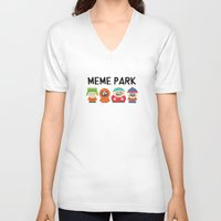 meme V-neck T-shirts featuring Meme Park by Milan Harangozó