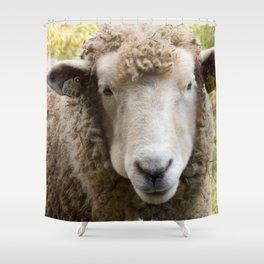 Sweet Sheep Face Shower Curtain