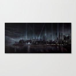 Film Noir City Canvas Print