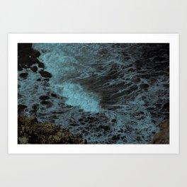 Feel the waves Art Print