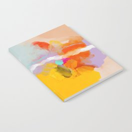 yellow blush abstract Notebook