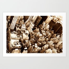 NYC - Big Apple from Empire  Art Print