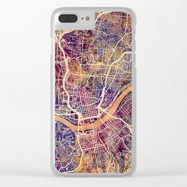 Cincinnati Ohio City Map Clear iPhone Case