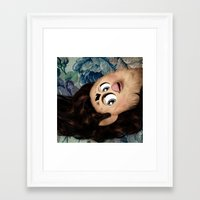 marina and the diamonds Framed Art Prints featuring Furby Marina and the Diamonds - The Family Jewels by Furby Living