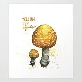 Yellow Fly Agaric Art Print