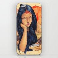 pocahontas iPhone & iPod Skins featuring Pocahontas by Bárbara  Kramer