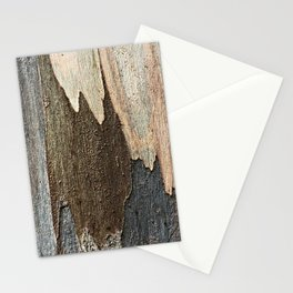 Eucalyptus Tree Bark and Wood Abstract Natural Texture 31 Stationery Cards