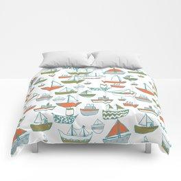 Hey Little Boat Comforters