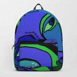 Green Woman Feeling Blue Backpack