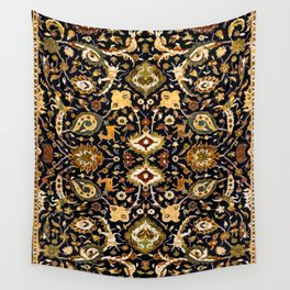 Persian Floral Rug With Animals Wall Tapestry