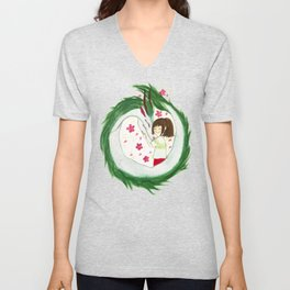 Watercolor Spirited Away - The Love Gathering Unisex V-Neck