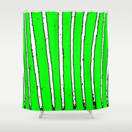 Green Seaweed Shower Curtain