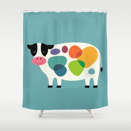 Awesome Cow Shower Curtain