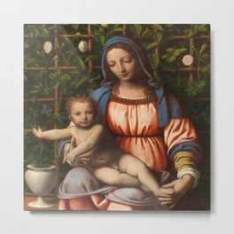 Holy Mother with child Metal Print