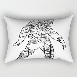 Bigfoot in the pacific northwest Rectangular Pillow